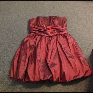 David's Bridal Taffeta Bubble Skirt Dress 22